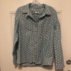 Madewell chambray medium button down shirt